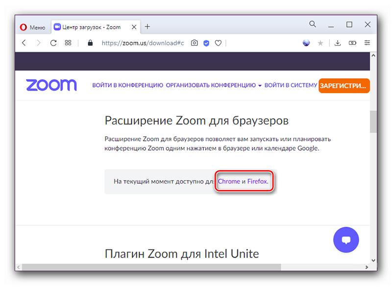 Расширение chrome и firefox для Zoom