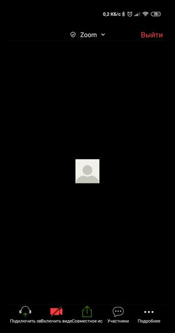 Конференция Zoom на телефоне